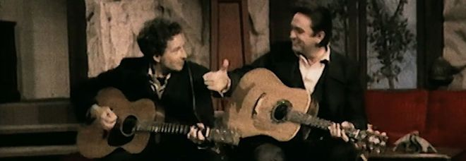 Bob Dylan con Johnny Cash