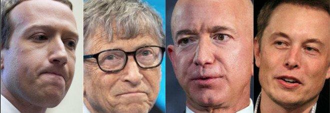 """Tassa sui """"super ricchi"""" negli Usa: Jeff Bezos rischia di pagare oltre 5 miliardi all'anno. Elon Musk, Bill Gates e Zuckerberg poco meno"""