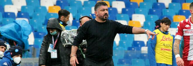 Napoli, Gattuso applaude i suoi: «Volevamo agganciare la Roma»