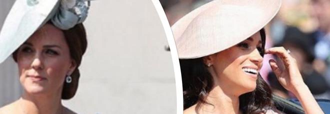 Kate Middleton e Meghan Markle gara di stile al Trooping the Colour, ma la duchessa di Cambridge ha il muso...