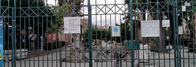 Incendio Anfiteatro di Pozzuoli, stop agli eventi e alla mostra gladiatori