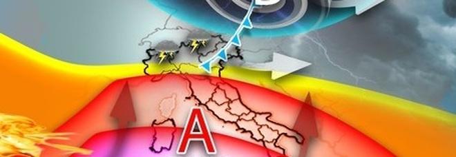 Meteo in Italia: caldo torrido e maltempo dividono lo stivale