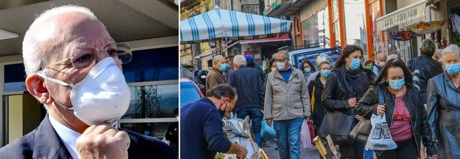 Covid Campania, nuova ordinanza De Luca: chiesto il coprifuoco, Arzano zona rossa