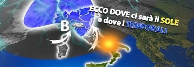 Meteo, il 25 aprile Italia spaccata in due: piogge al Nord, ma al Sud punte di 27°