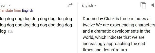Google Translate, la profezia da fine del mondo se si traduce la parola