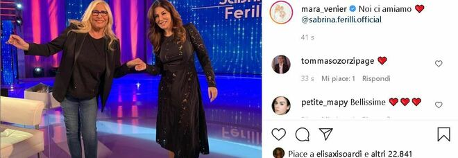 Sabrina Ferilli a Domenica In: «Fui scartata perché troppo 'italica'». E Mara Venier le insegna a usare Instagram