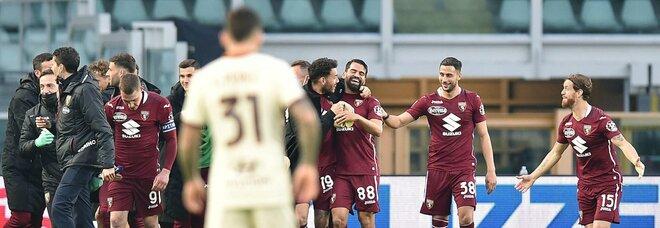 Il Toro batte 3-1 la Roma in rimonta e va a +5 dal terz'ultimo posto