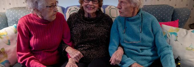 Stesso nome, stesso destino, la grande amicizia delle tre Dorothy che festeggiano assieme i 100 anni