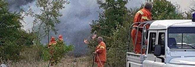 Tammaro e Fortore devastati dalle fiamme: «Danni enormi»
