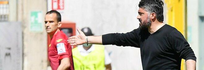 De Laurentiis, mano tesa a Gattuso: «Bravo Rino, brava tutta la squadra»