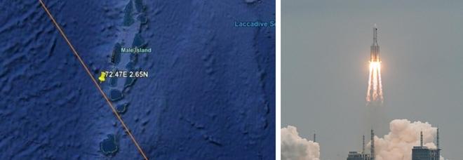 Razzo cinese caduto nell'Oceano Indiano, vicino alle Maldive. Fine allerta per l'Italia