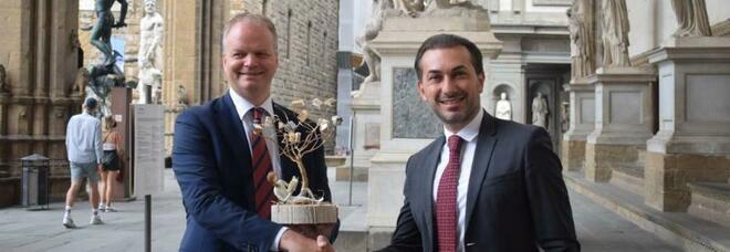 Premio Artis Suavitas ad Eike Schmidt, direttore della Galleria degli Uffizi