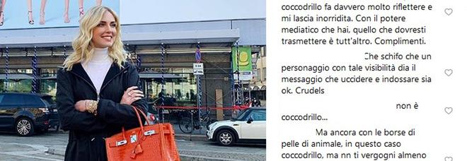 Chiara Ferragni e la borsa di coccodrillo, il web insorge: «Hai le mani sporche di sangue»
