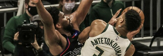 Nba, dominio di Antetokounmpo come Mvp: Bucks battono i 76ers 124-117. Super Doncic a Dallas