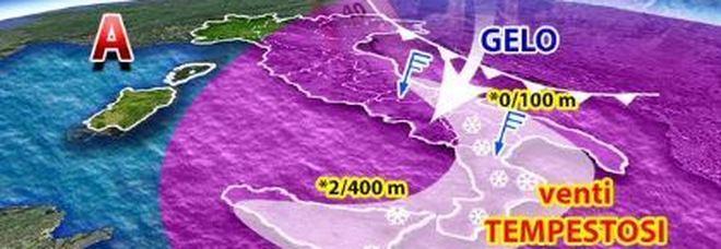 Meteo, assalto siberiano con gelo e neve: ecco le regioni interessate