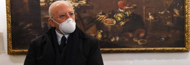 Campania in zona arancione, De Luca: «È molto probabile, facciamo attenzione»