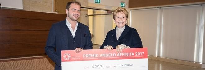 Il vincitore Paolo Vecchione e Rosanna De Lucia