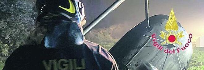 Elicottero caduto a Sparanise, preghiere per il pilota ferito