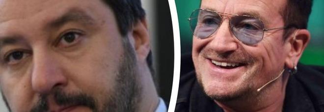 Bono Vox rimprovera Matteo Salvini e lui replica così: «Ci vuole compassione? In Italia ci sono 5 milioni di poveri»