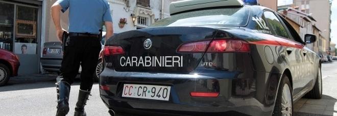 Intervento dei carabinieri