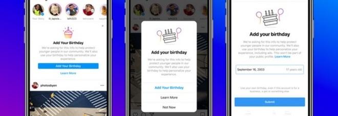 Instagram chiede il giorno del compleanno agli utenti. Ecco perché