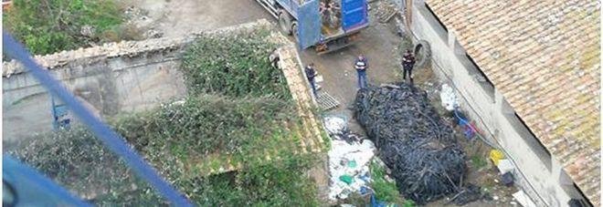 Deposito di rifiuti speciali  sequestrato dal Noe a Salerno