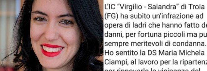 Lucia Azzolina, la gaffe sui ladri entrati nella scuola: la ministra confonde