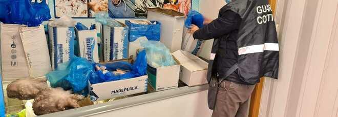 Prodotti ittici senza tracciabilità sequestrati 125 chili di pescato