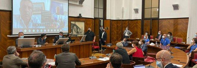 L'incontro su Whirlpool al Mise con il ministro Giancarlo Giorgetti, Roma, 23 settembre 2021.