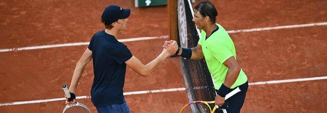 Nadal-Sinner, non c'è storia: Rafa è troppo forte, vittoria in tre set