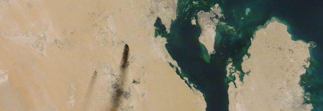 Raffinerie saudite in fiamme