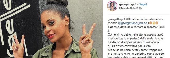 Il post di Georgette Polizzi (instagram)