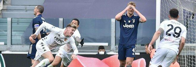 La gioia di Gaich e la disperazione dei giocatori della Juventus