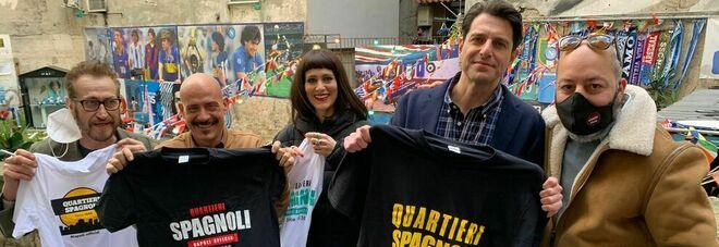 Maradona, l'omaggio ai Quartieri degli attori Giallini, Morelli e Tognazzi