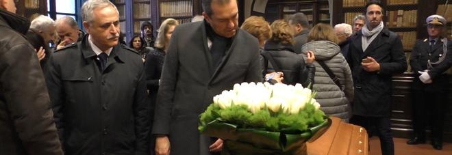 De Magistris ai funerali di Galasso