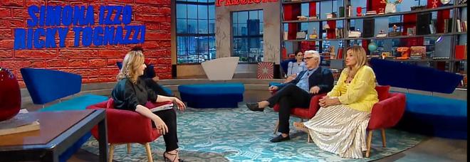 """Simona Izzo e Ricky Tognazzi ospiti di Serena Bortone a """"Oggi è un altro giorno"""""""