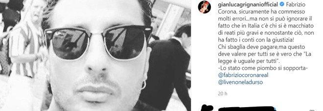 Fabrizio Corona, Gianluca Grignai si schiera con lui: «C'è chi si è macchiato di reati peggiori ma non ha fatto i conti con la giustizia»