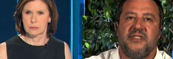 Salvini a CartaBianca, lite con il giornalista Barbano: «Mi sta dando del cretino?» Video