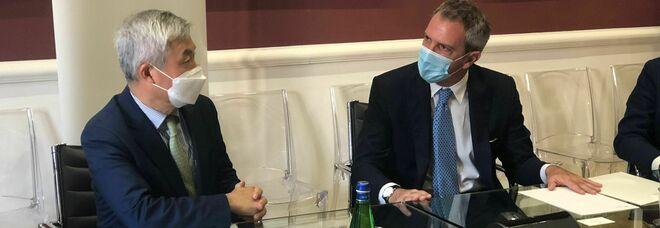 Il presidente di Confindustria Campania Traettino incontra l'ambasciatore della Corea del Sud in Italia