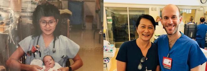 L'infermiera salva la vita al bimbo prematuro, 28 anni dopo sono colleghi nello stesso ospedale