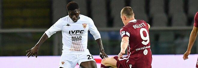 Torino-Benevento noia e 1-1, giallorossi in pullman per 12 ore, per punizione. Inzaghi dignitoso