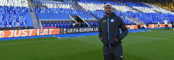 Leicester-Napoli, carica Osimhen: Victor cerca il primo gol in Europa