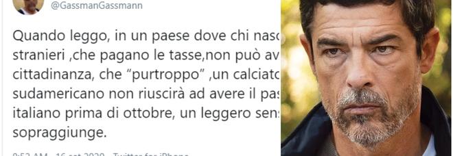 Suarez, Alessandro Gassmann: «Sono schifato, chi nasce da genitori stranieri non ha cittadinanza»