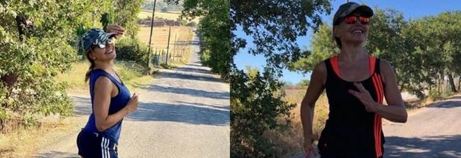 Barbara D'Urso diventa una runner, la foto mentre corre fa il giro del web. Ma i fan notano un dettaglio: «Com'è possibile?»