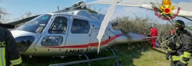 Elicottero precipita in Irpinia, ferito il pilota di 37 anni