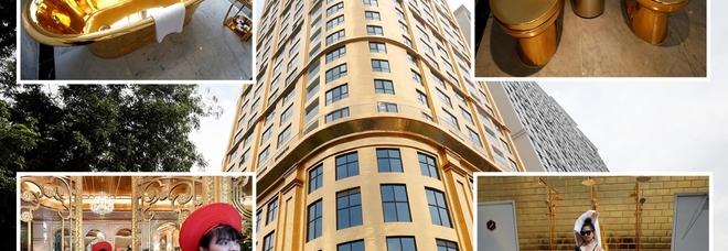 Dalle camere alla piscina sul tetto: in Vietnam il primo hotel placcato tutto in oro