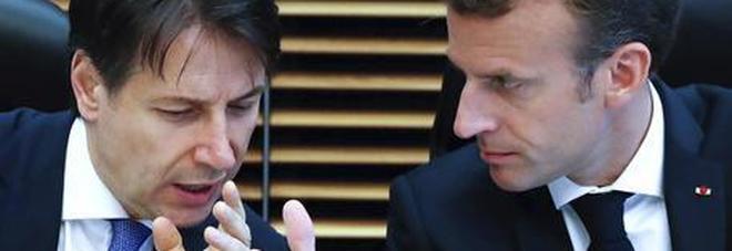 Il premier Conte e il presidente Macron a Bruxelles