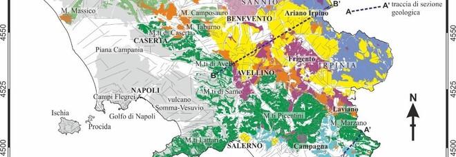 Risultati immagini per CARTA GEOLOGICA DELLA CAMPANIA