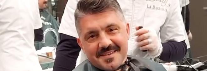 Napoli, Gattuso torna dal barbiere: «Io scherzavo, lui non parla mai»
