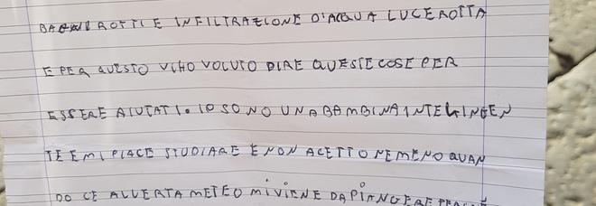 La lettera inviata al sindaco dalla piccola Rosa